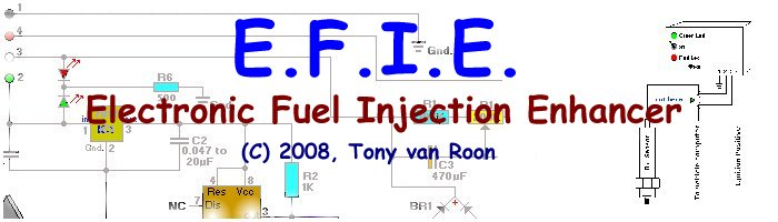 electronic fuel injection enhancer for one or two oxygen sensors rh learningelectronics net efie wiring diagram Residential Electrical Wiring Diagrams