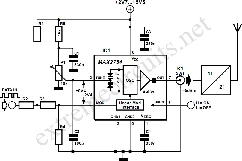 1 2ghz vco with linear modulation circuit diagram