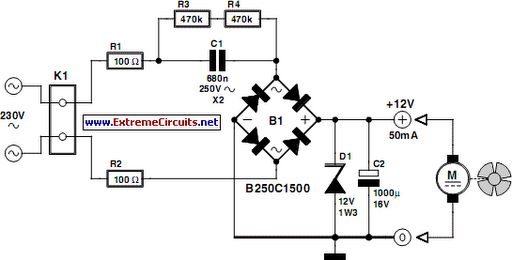 12v fan directly on 220v ac circuit diagram