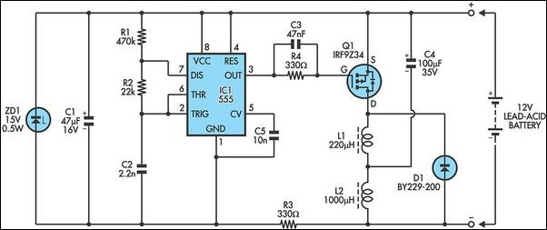 V Lead Acid Battery Desulphator Circuti Diagram on 12v Lead Acid Battery Charger Circuit Diagram