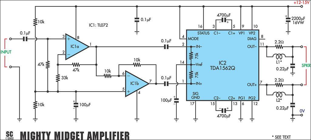36 watt0 audio power amplifier circuit diagram jpg image rh learningelectronics net