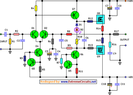 60 watt audio power amplifier circuit diagram circuit diagram 60 watt audio power amplifier schematic circuit diagram