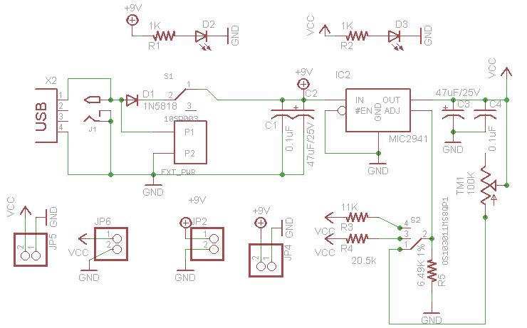 Very Low Dropout Adjustable Breadboard Power Supply Circuit Diagram