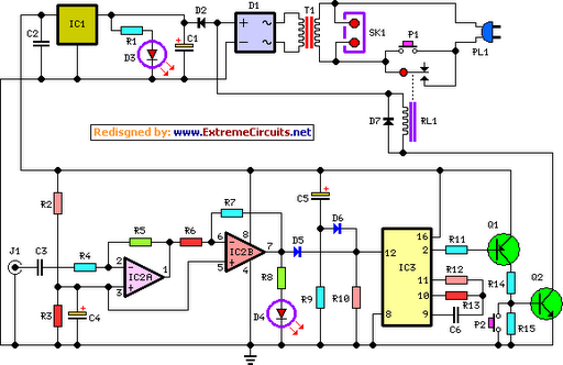 amplifier timer circuit schematic circuit diagram rh learningelectronics net RC Timer Circuit Simple Timer Circuit