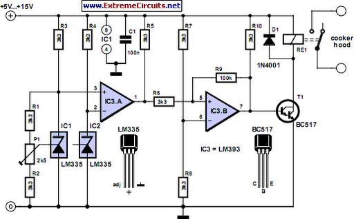Automatic Range Hood Circuit Diagram