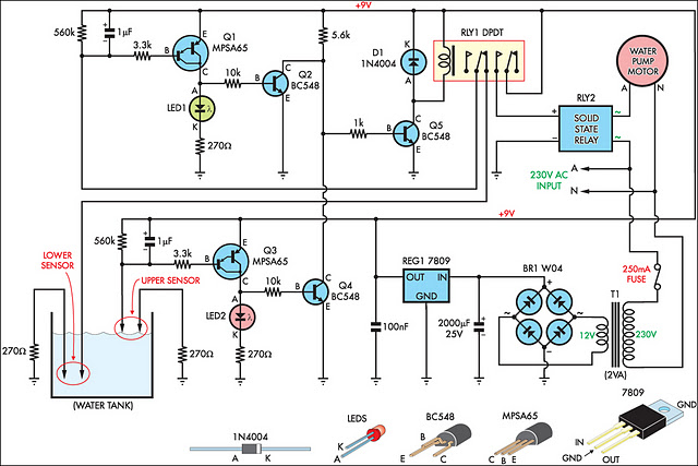 Automatic Water Tank Filler Circuit Diagram Circuit Diagram