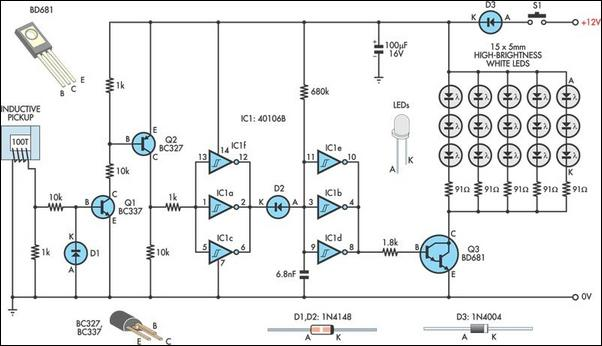 led strobe light circuit diagram info led strobe light circuit diagram the wiring diagram wiring circuit