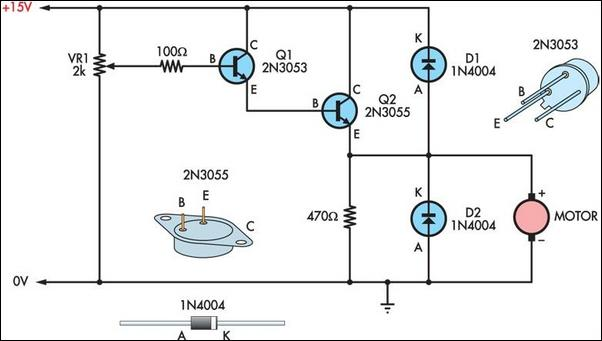 Two Basic Motor Speed Controllers Circuit Diagram