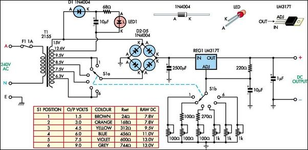 Battery Replacement Power Supply Circuit Diagram