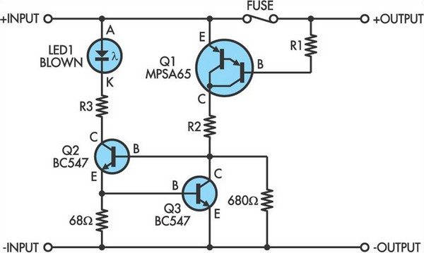 blown fuse indicator circuit diagram 2 jpg rh learningelectronics net  fuse schematic diagram 2010 lincoln navigator