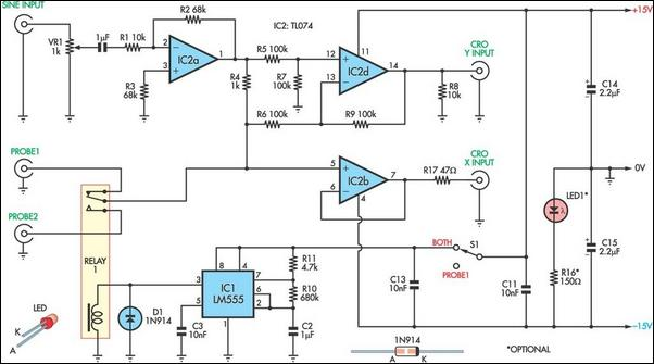 Curve Tracer Adaptor Circuit Diagram