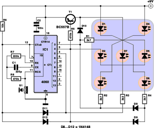 Awe Inspiring Dice Schematic Basic Electronics Wiring Diagram Wiring Database Gramgelartorg