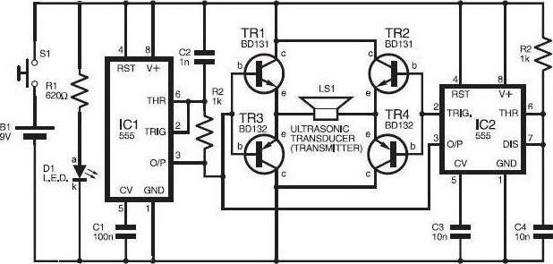 cat and dog repellent circuit diagram