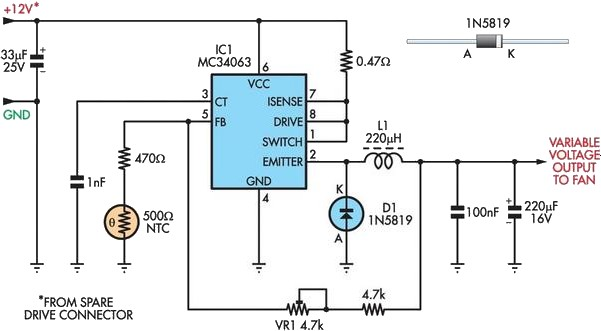 Efficient Fan Speed Controller Circuit Diagram