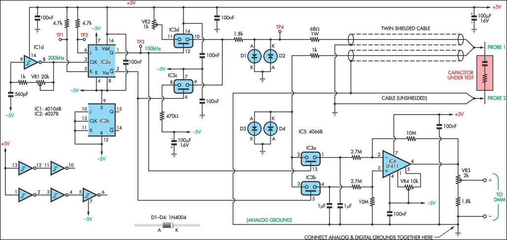 Esr Amp Low Resistance Test Meter Circuit Diagram