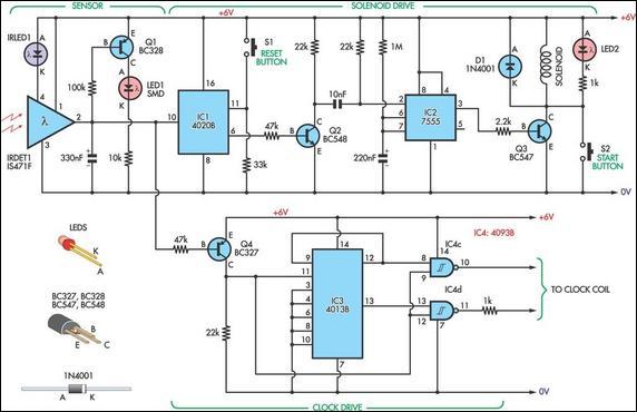 experimental pendulum clock circuit diagram rh learningelectronics net