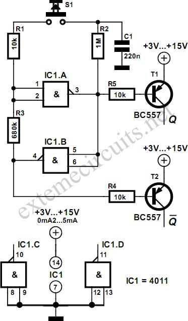 2 led flasher cmos circuit diagram