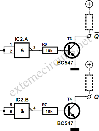 Circuit Diagram For Nand Gate | Flip Flop Using Cmos Nand Gates Circuit Diagram