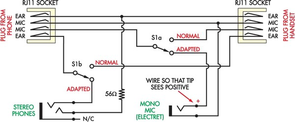 Cheapskate s Headset Adapter Circuit Diagram