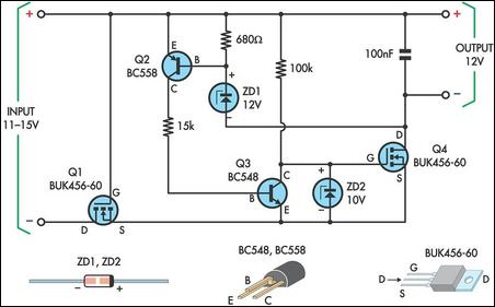 high current low dropout voltage regulator circuit diagram rh learningelectronics net 7824 regulator circuit diagram 7824 regulator circuit diagram