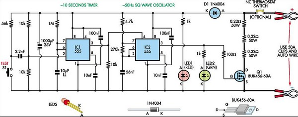 internal resistance tester for batteries circuit diagram, circuit diagram
