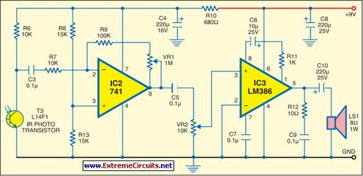 Ir Receiver Circuit Schematic - Wiring Diagram •