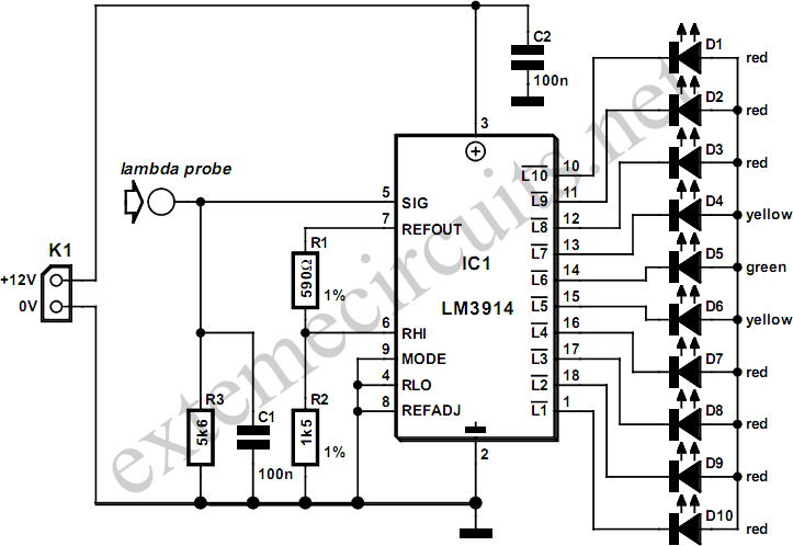 Lambda Probe Readout For Carburettor Tuning Circuit Diagram