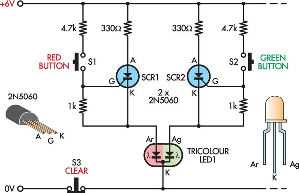 led noughts and crosses circuit diagram rh learningelectronics net flickering led circuit diagram 12v led circuit diagram