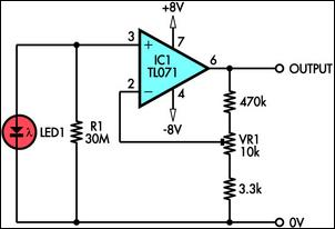 using led as a light sensor circuit diagram rh learningelectronics net light sensor circuit diagram pdf circuit diagram of light sensor using ldr