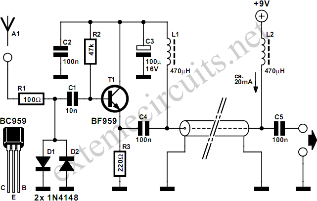 longwire match for sw receivers circuit diagram