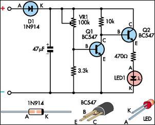 Low Battery Indicator I Circuit Diagram