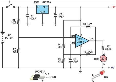 Low Battery Indicator II Circuit Diagram
