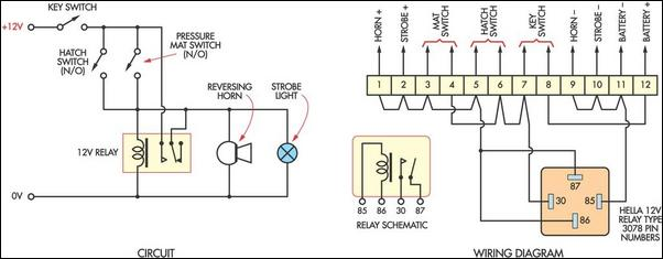 Low Cost Burglar Alarm For Boats Circuit Diagram