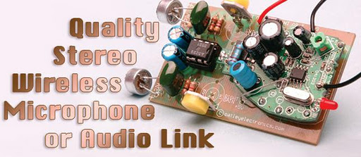 quality stereo wireless microphone or audio link circuit diagram rh learningelectronics net