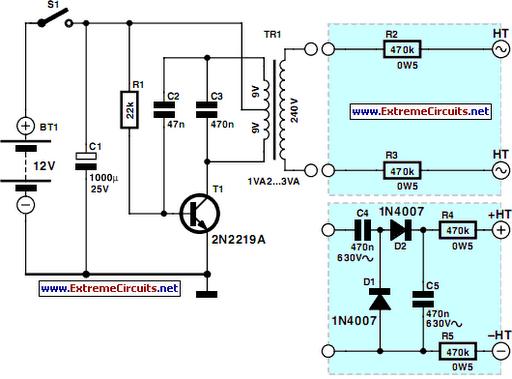 mini high voltage generator circuit diagram rh learningelectronics net