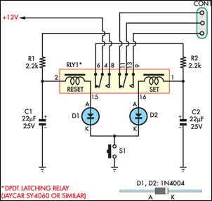 momentary-switch-teamed-with-latching-relay-2 Idec Relay Wiring Diagram For on