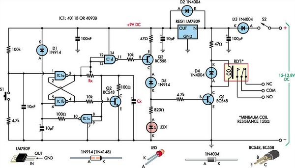 multipurpose flip flop timer circuit diagram rh learningelectronics net jk flip flop circuit diagram edge triggered d flip flop circuit diagram