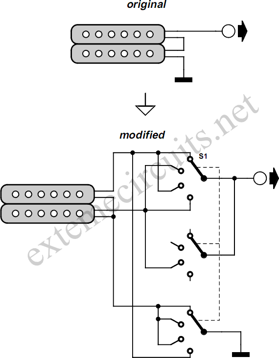two single coil guitar wiring diagram