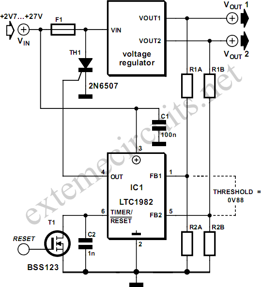 Overvoltage Protection Circuit Diagram on