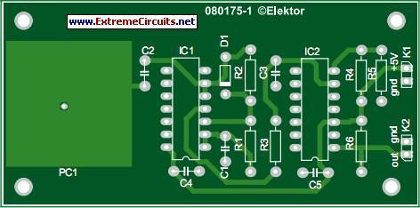 Simple Capacitive Touch Sensor Circuit Diagram