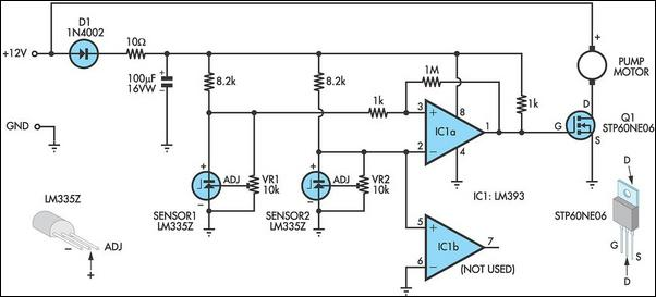 pump controller for solar hot water system circuit diagram