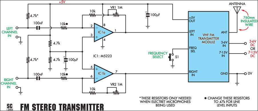 microphone circuit diagram info quality stereo wireless microphone or audio link circuit diagram wiring circuit