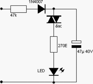 220v ac powered blinking led circuit diagram. Black Bedroom Furniture Sets. Home Design Ideas