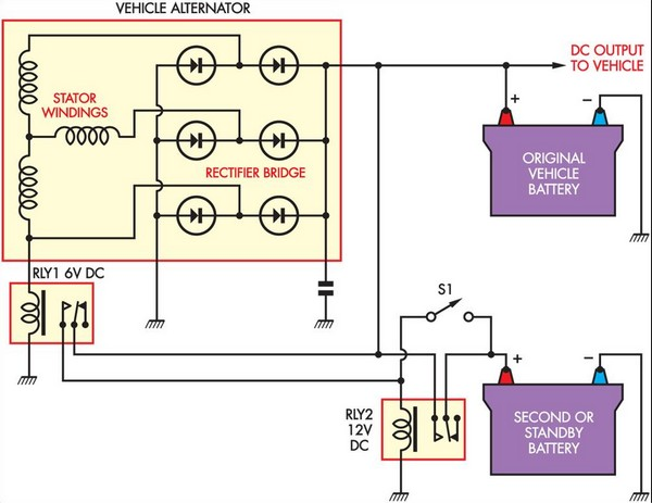 simple battery isolator circuit diagram simple battery isolator circuit diagram diode isolator wiring diagram at honlapkeszites.co