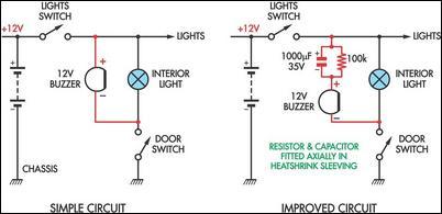 simple headlight reminders circuit diagram 2 headlight switch buzzer wiring diagram wiring diagrams  at nearapp.co