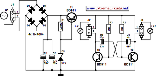 led bike light circuit project circuit diagram