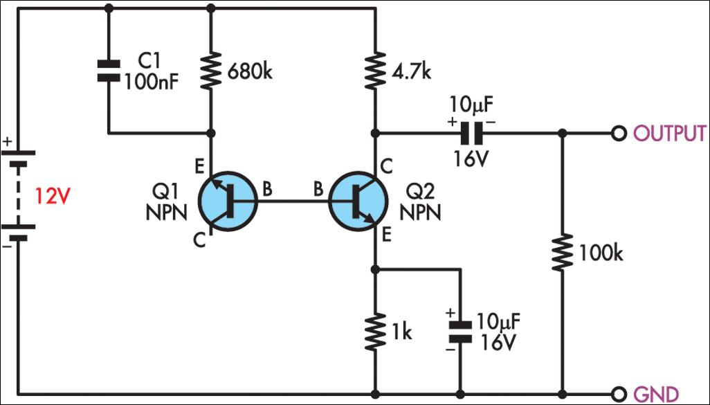 simple white noise generator circuit diagram jpg image rh learningelectronics net 6 Volt Generator Wiring Diagram basic generator wiring diagram