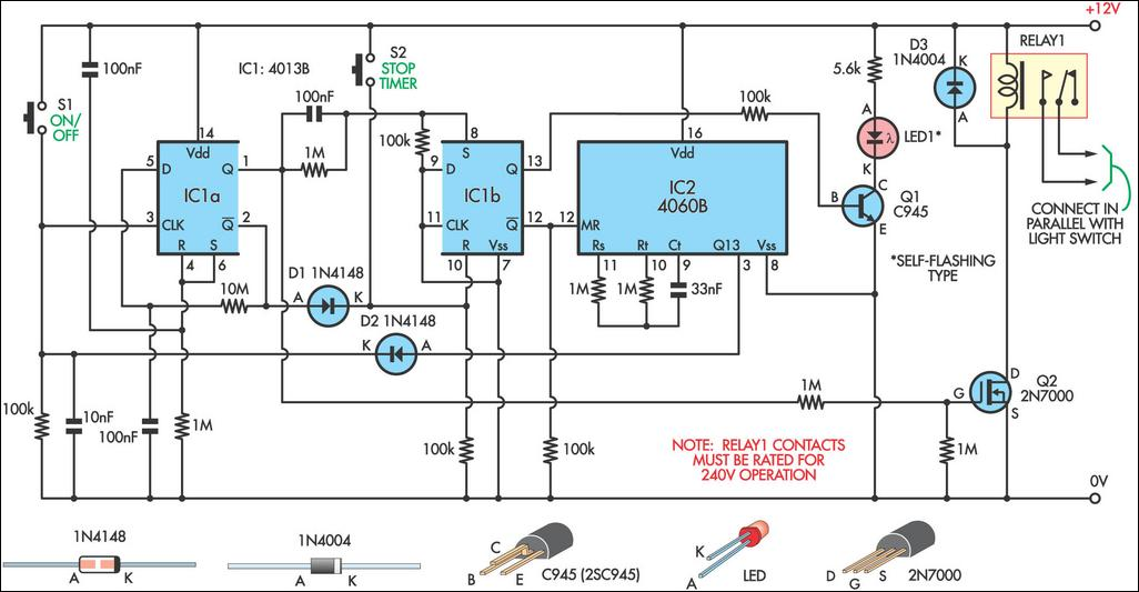 switch timer for bathroom light circuit diagram switch timer for bathroom light