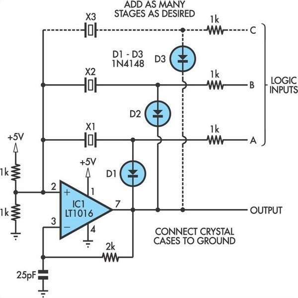 switchable output crystal oscillator circuit diagram rh learningelectronics net oscillator circuit diagram pdf crystal oscillator circuit diagram
