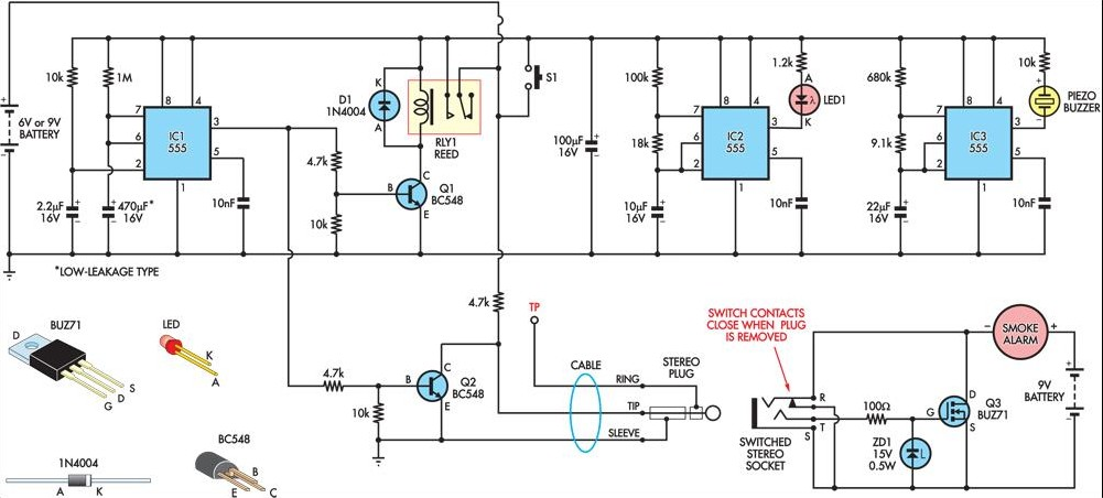 Wiring Diagram For Alarm Silence : Temporarily silencing a smoke detector circuit diagram